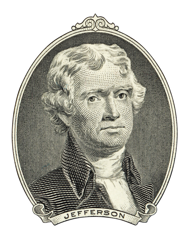 Portrait of Thomas Jefferson president