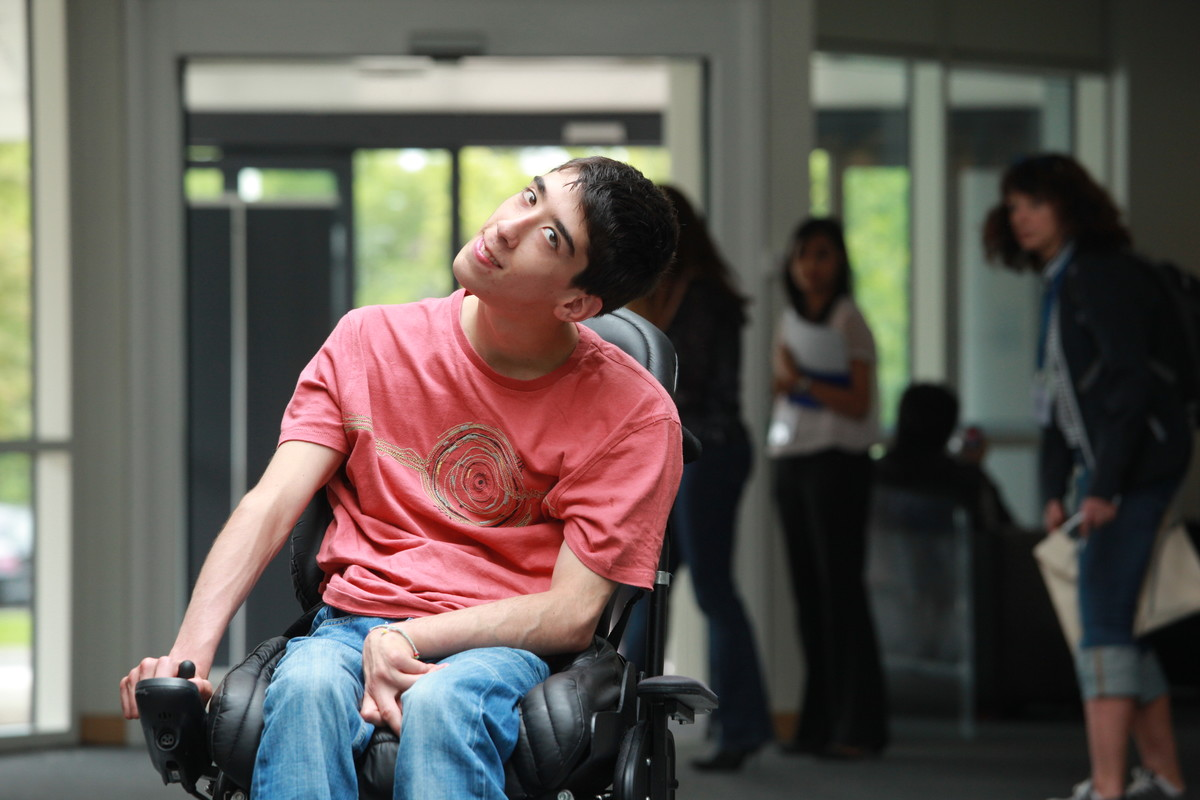 Motability Scheme customer using powered wheelchair