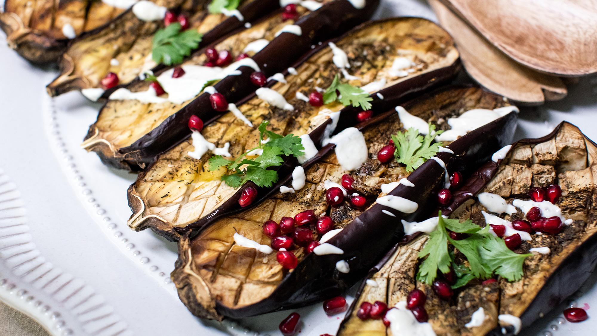 McCormick Gourmet Roasted Eggplant with Za'atar Yogurt Sauce