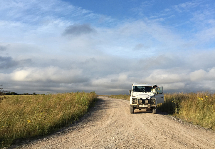 A 4X4 safari on Salisbury Plain
