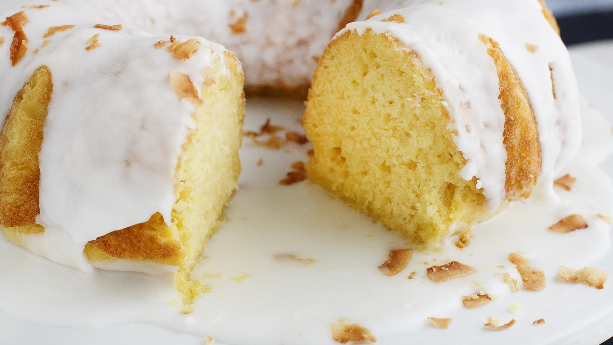 Thai Kitchen Lemon Coconut Cake with Lemon Glaze