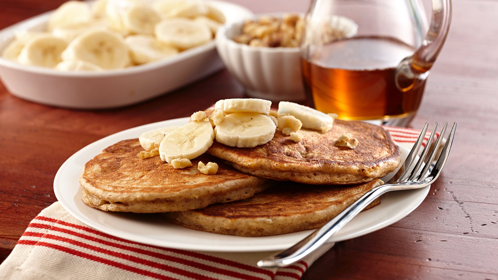 McCormick Maple Banana Bread Pancakes