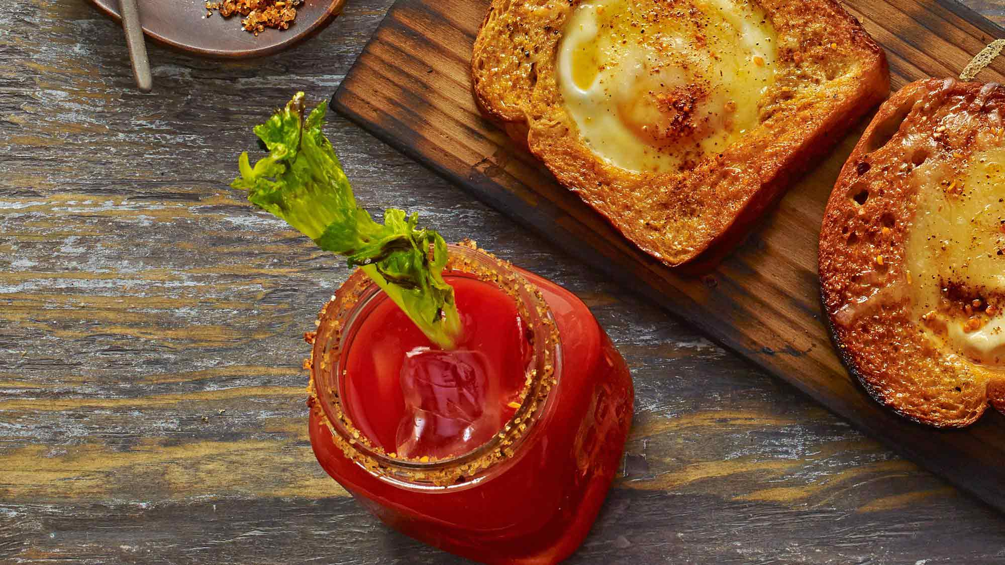 Old Bay Blood Mary with Charred Celery Recipe