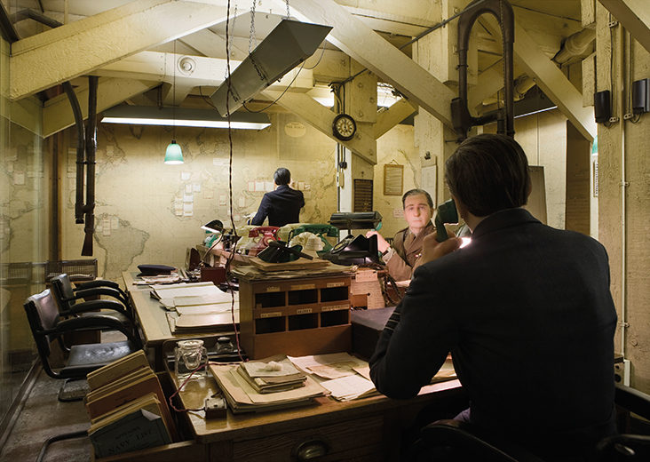 The Map Room at the Churchill War Rooms