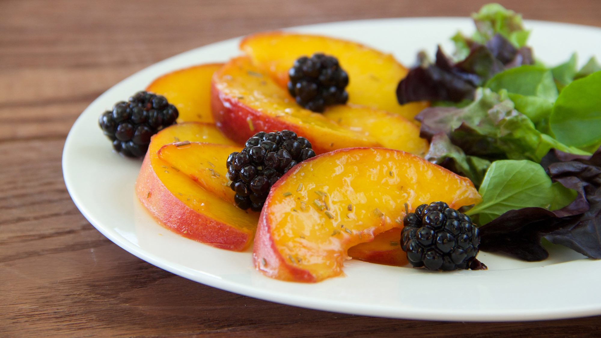 McCormick Rosemary Quick-Pickled Peaches and Blackberries