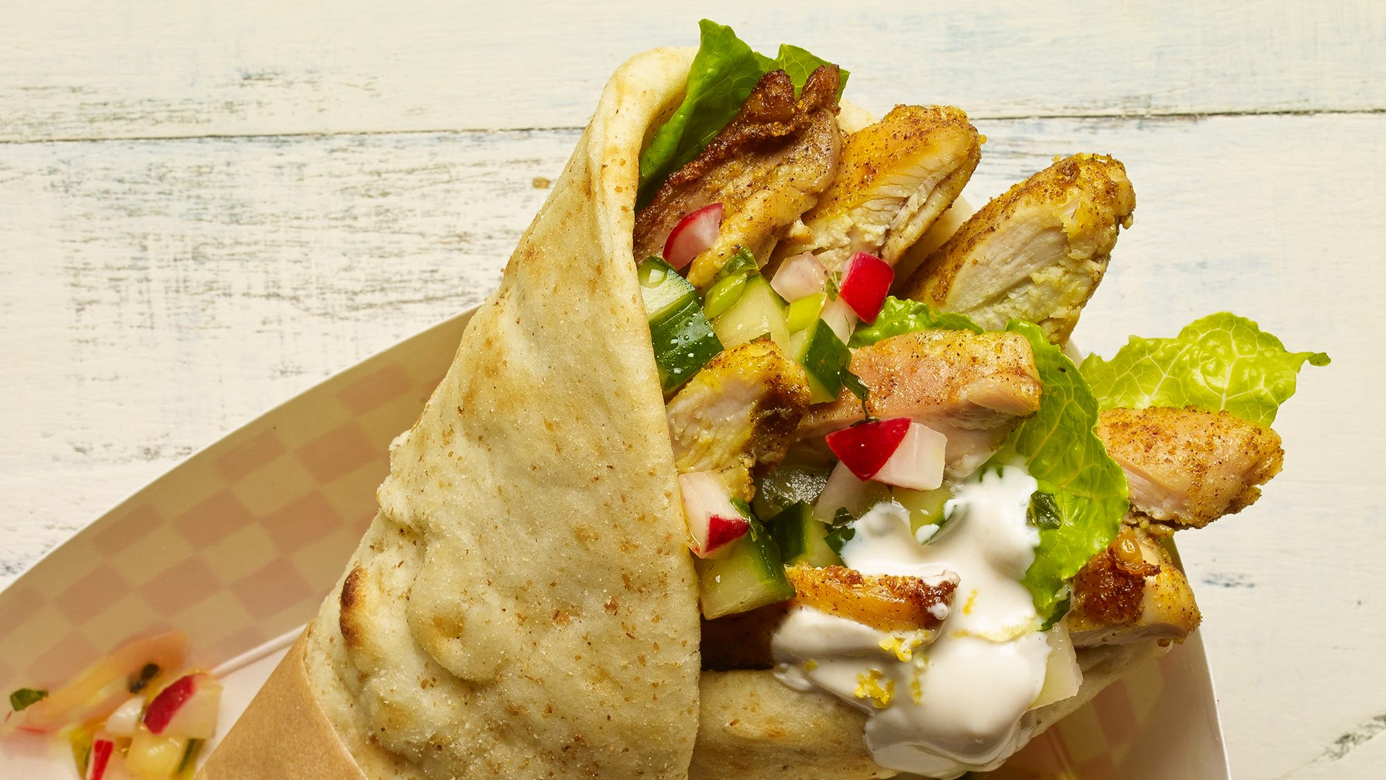 McCchicken Chicken Shawarma Wrap with Cucumber Radish Relish