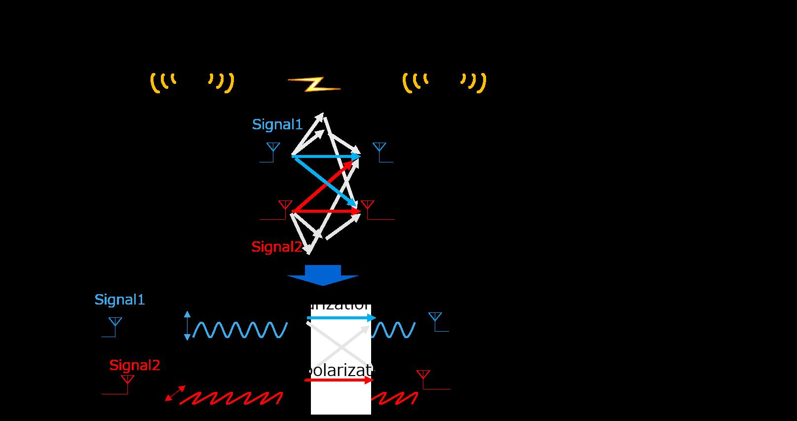 Use of polarized MIMO