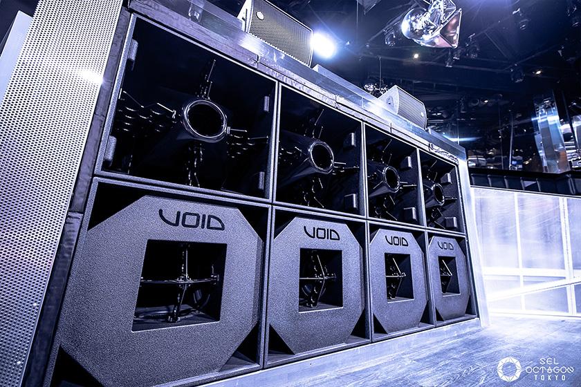 写真 : オクタゴンでは、音にもこだわりも。メインステージの音響システムには、英国VOID社のシステムを採用し、上質なサウンドを提供している(写真提供:エイベックス)