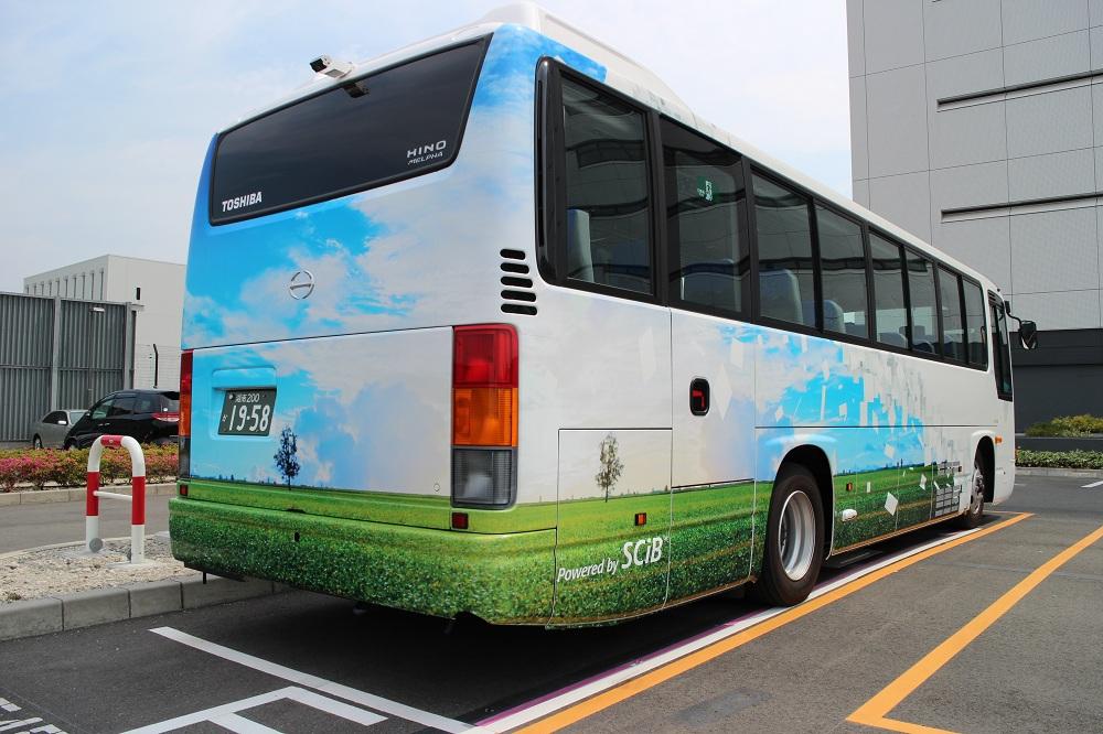 羽田空港で実証試験を行っているEVバス