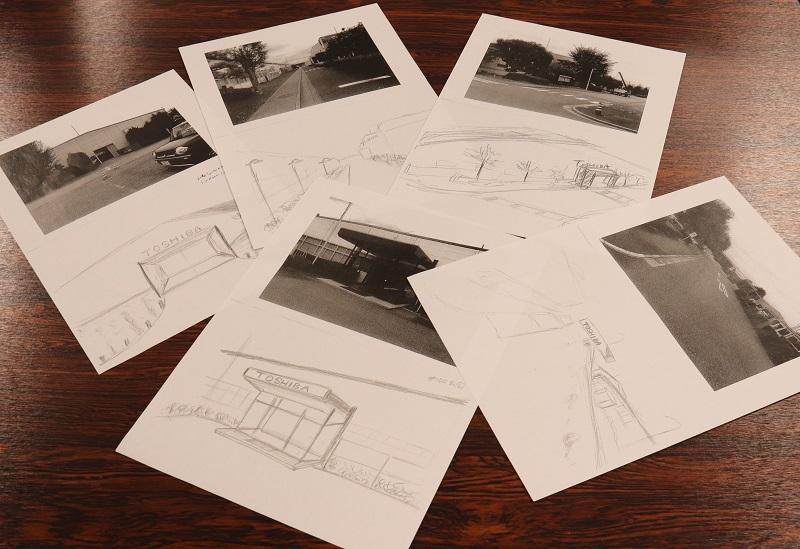 福島氏の描いたKANUMAあかり館のラフイメージ