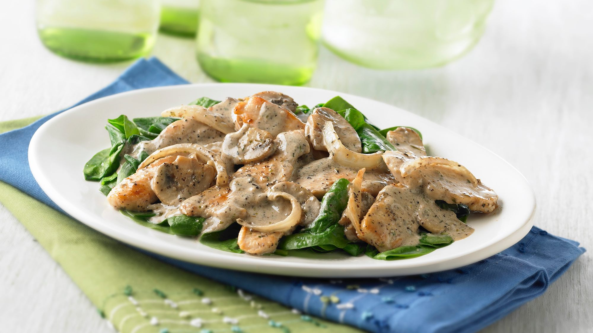 McCormick Creamy Peppered Chicken and Mushrooms