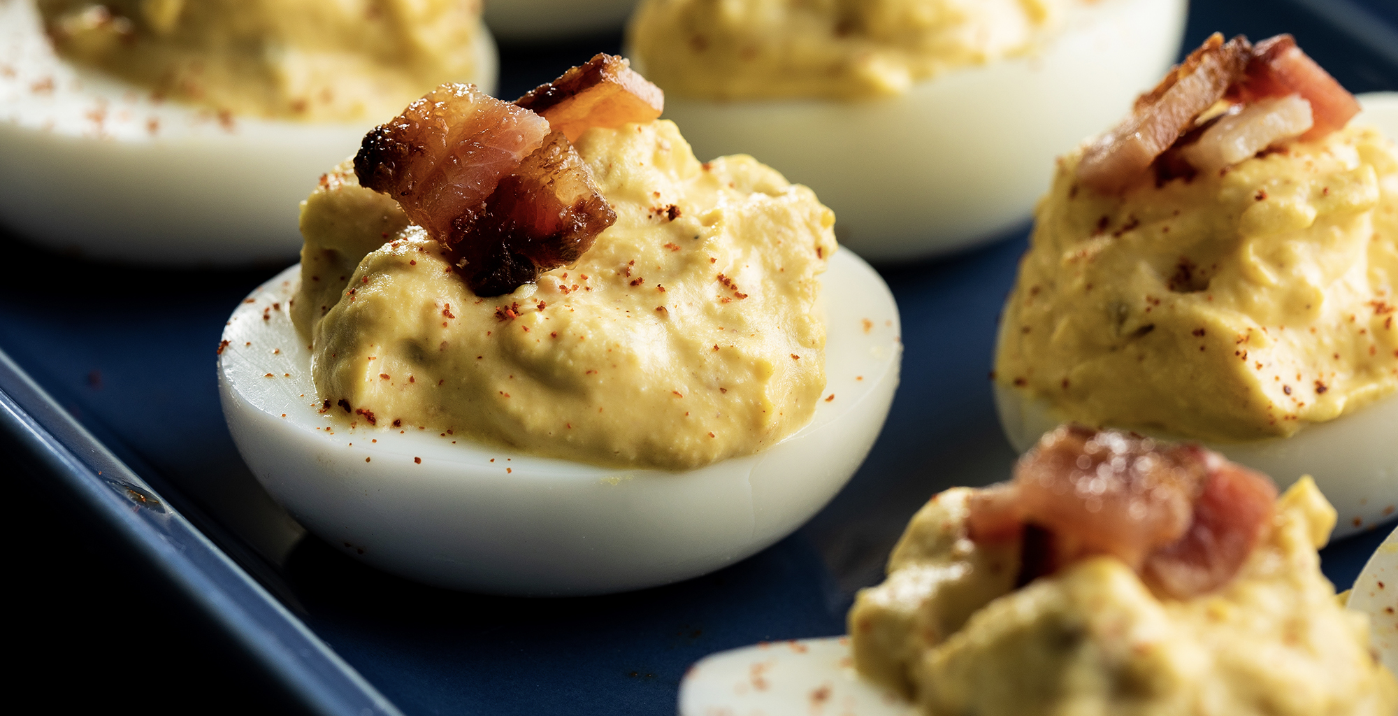 French's Tangy Mustard Deviled Eggs