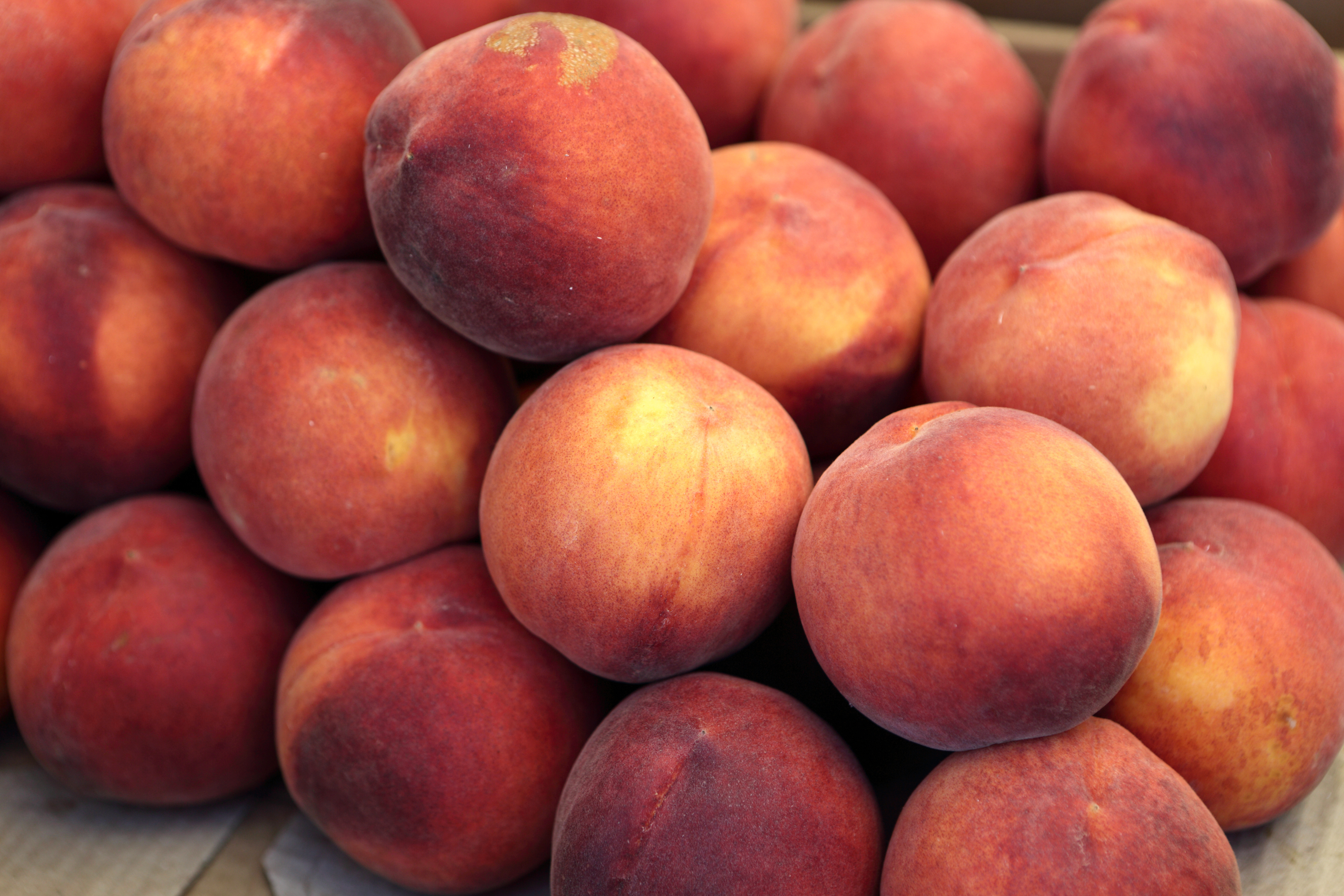 Ripe Bunch of Fresh Peaches