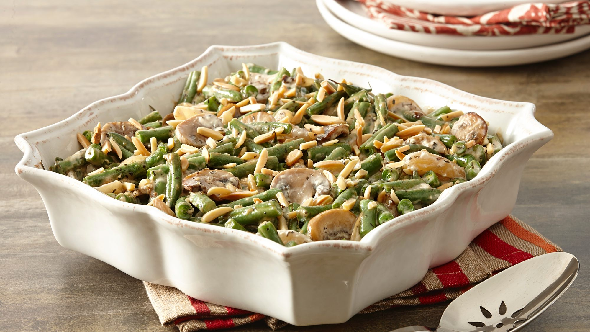 McCormick Gluten-Free Green Bean Casserole with Caramelized Mushrooms and Onions