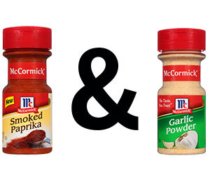 McCormick Paprika, Smoked and McCormick Garlic Powder