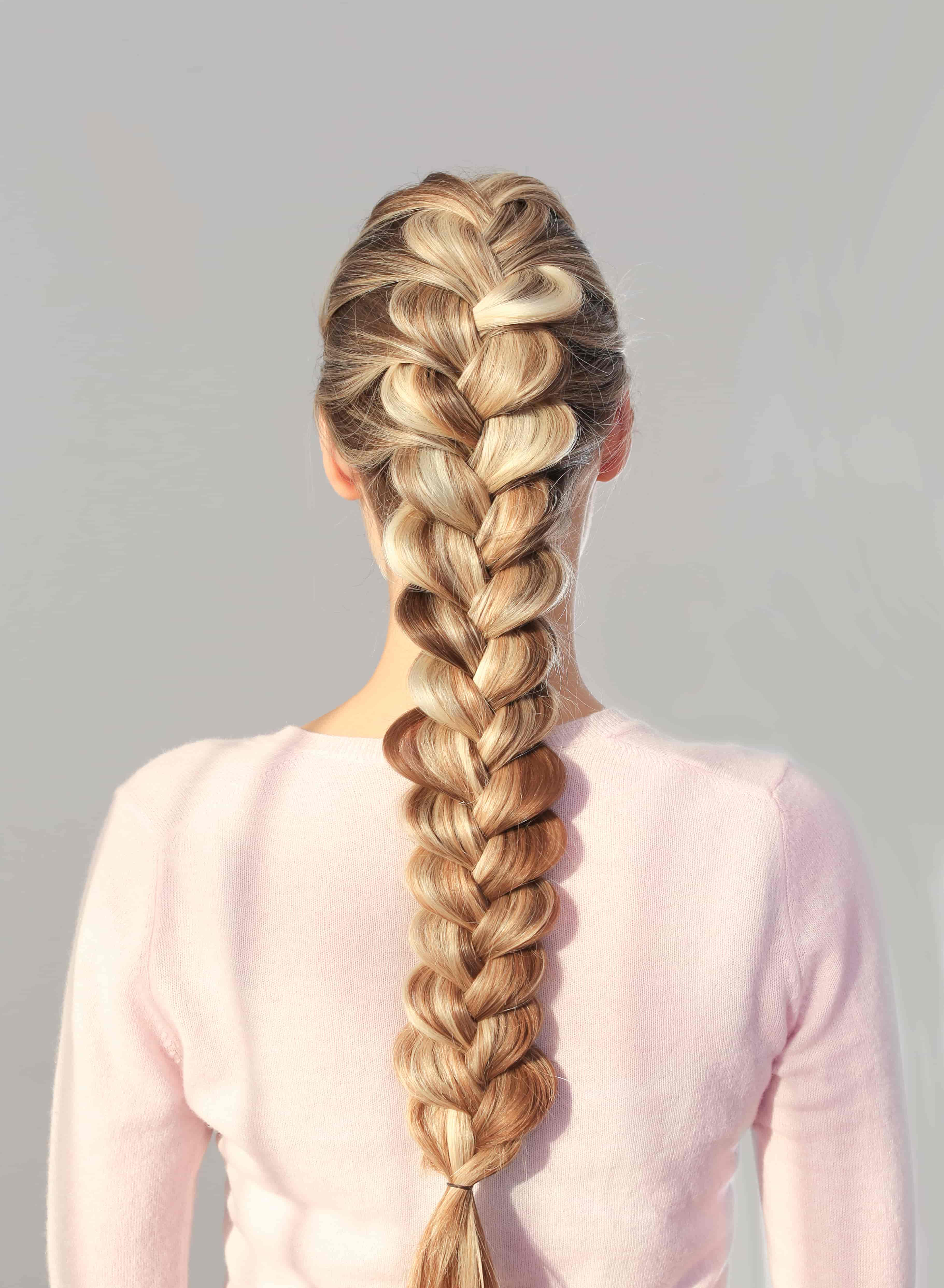 blonde woman with braided hair