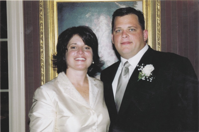 Diane Schuler and Husband Daniel Schuler on their wedding day - There's Something Wrong With Aunt Diane on HBO