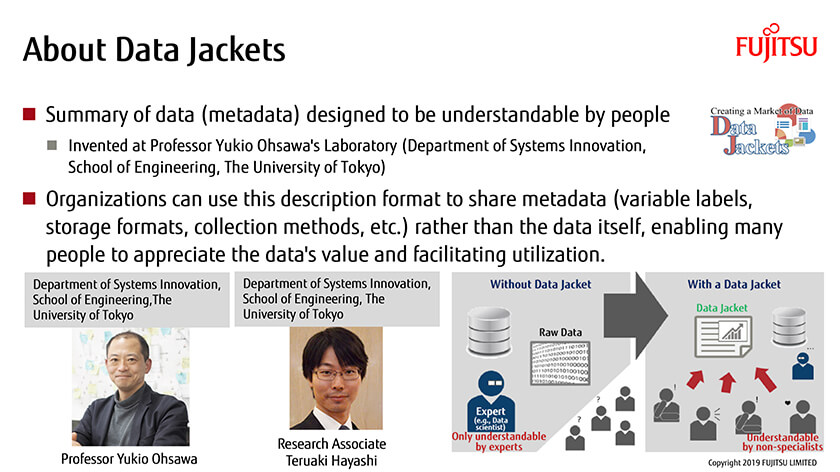Figure : Data Jackets enable data to be used safely and securely