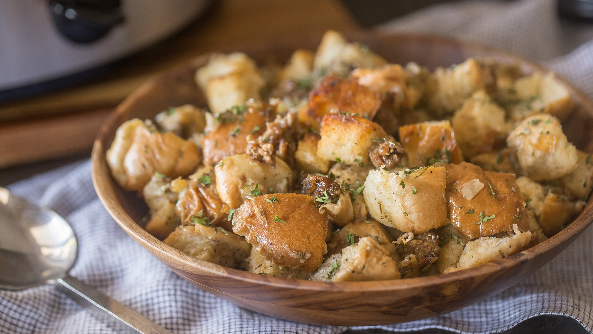 McCormick Slow Cooker Sausage Stuffing