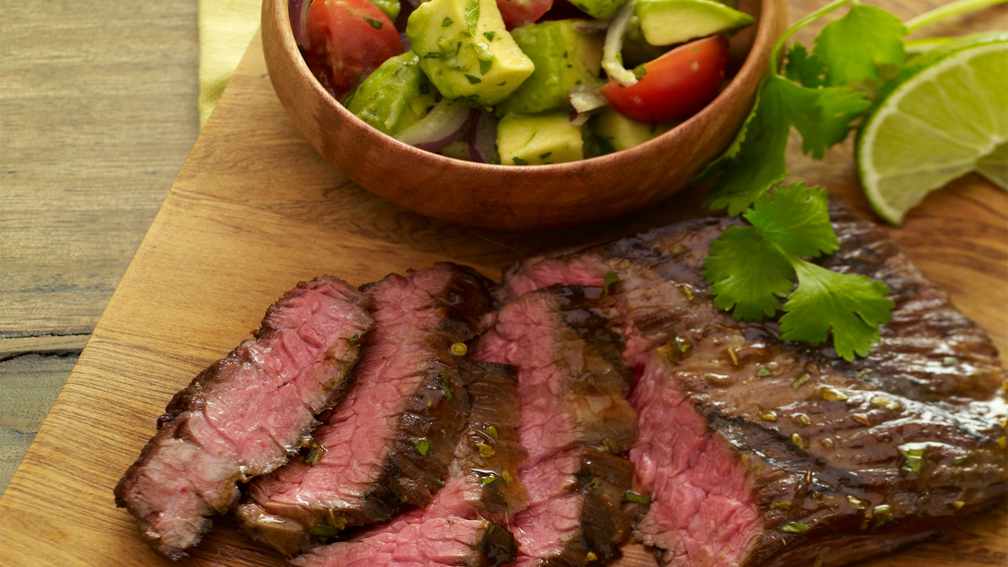 Tequila Lime Steak with Avocado Chopped Salad