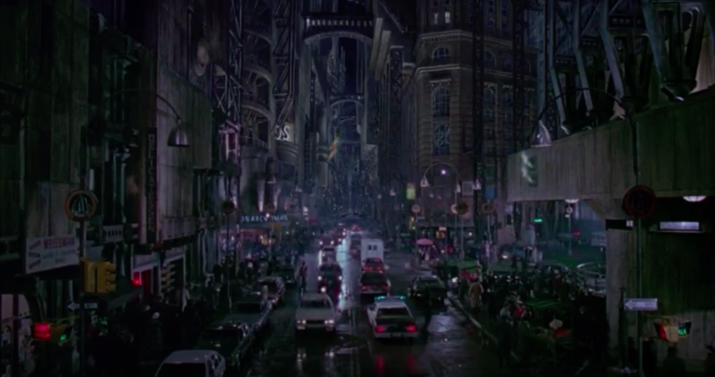 The hustle and bustle of Gotham