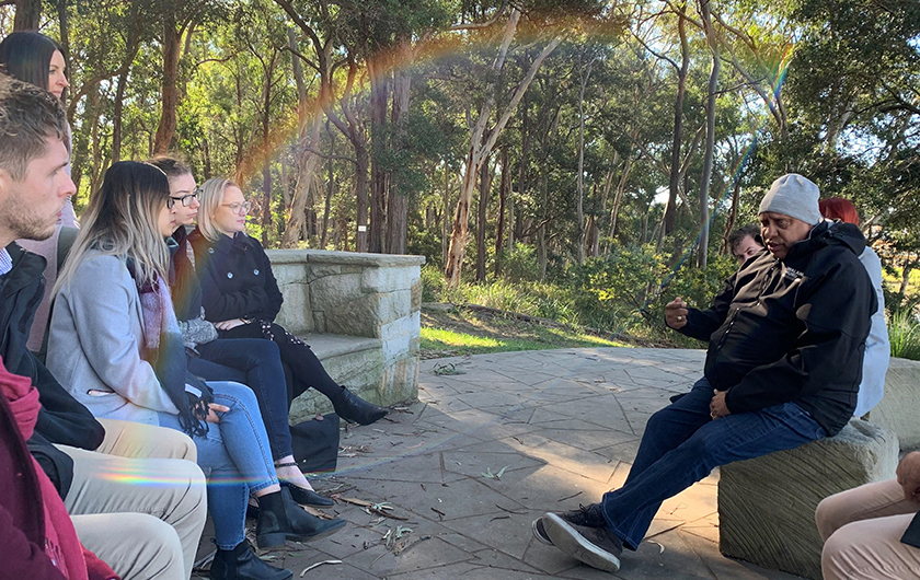 Photo : Participating in a Yarning Circle as part of National Reconciliation Week 2019