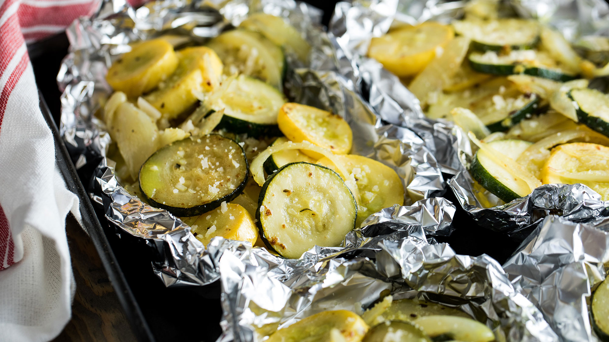 FRENCH's Easy Zucchini Foil Packets