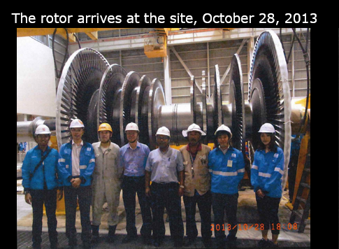 The rotor arrived at the site