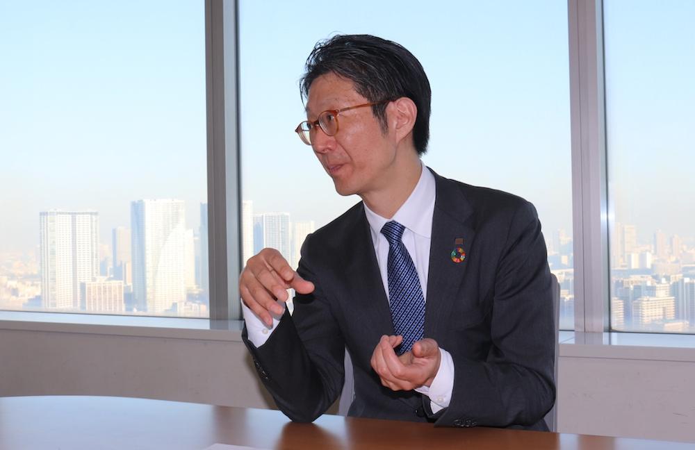 Shimada at the interview