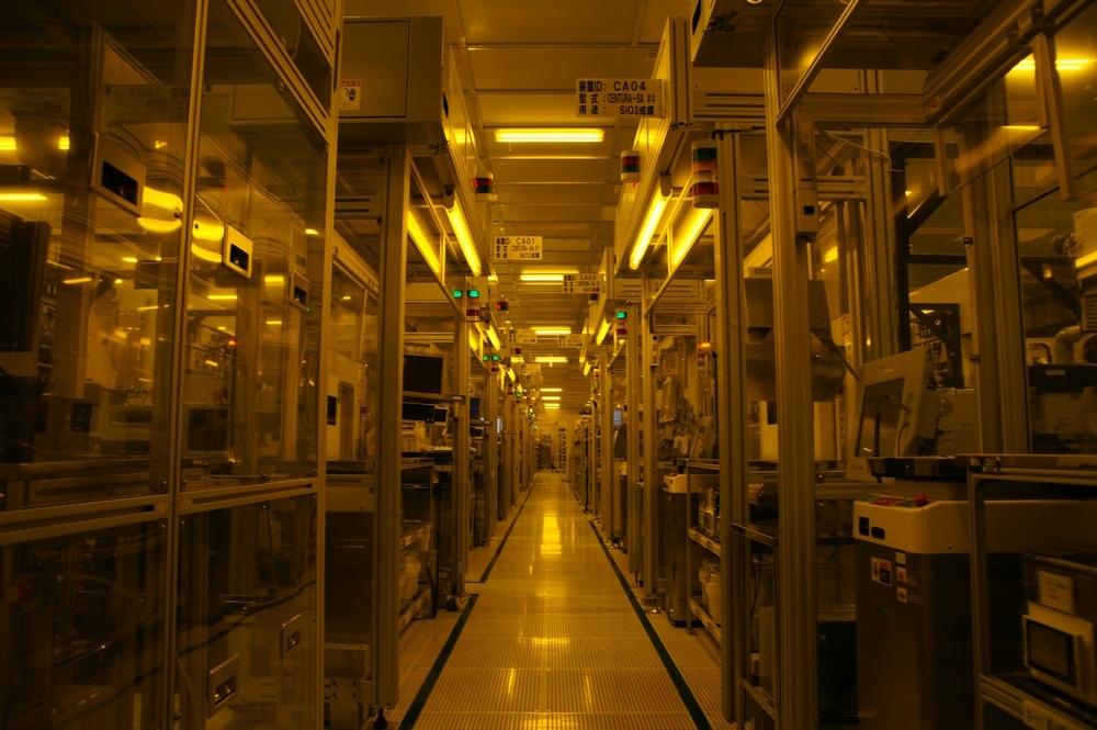 Cleanroom in the Toshiba semiconductor factory in Ishikawa Prefecture