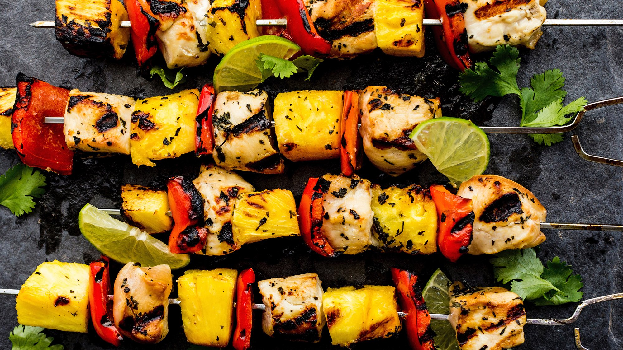 McCormick Gourmet Pineapple Chicken Skewers