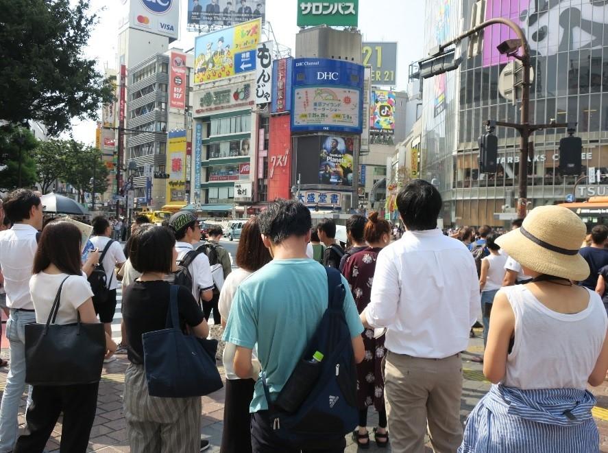 渋谷でのフィールドワークの様子