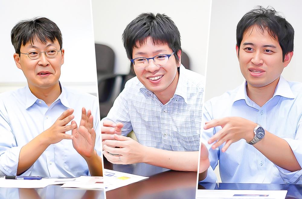 左から株式会社東芝 研究開発センター 進博正氏、高田正彬氏、志賀慶明氏