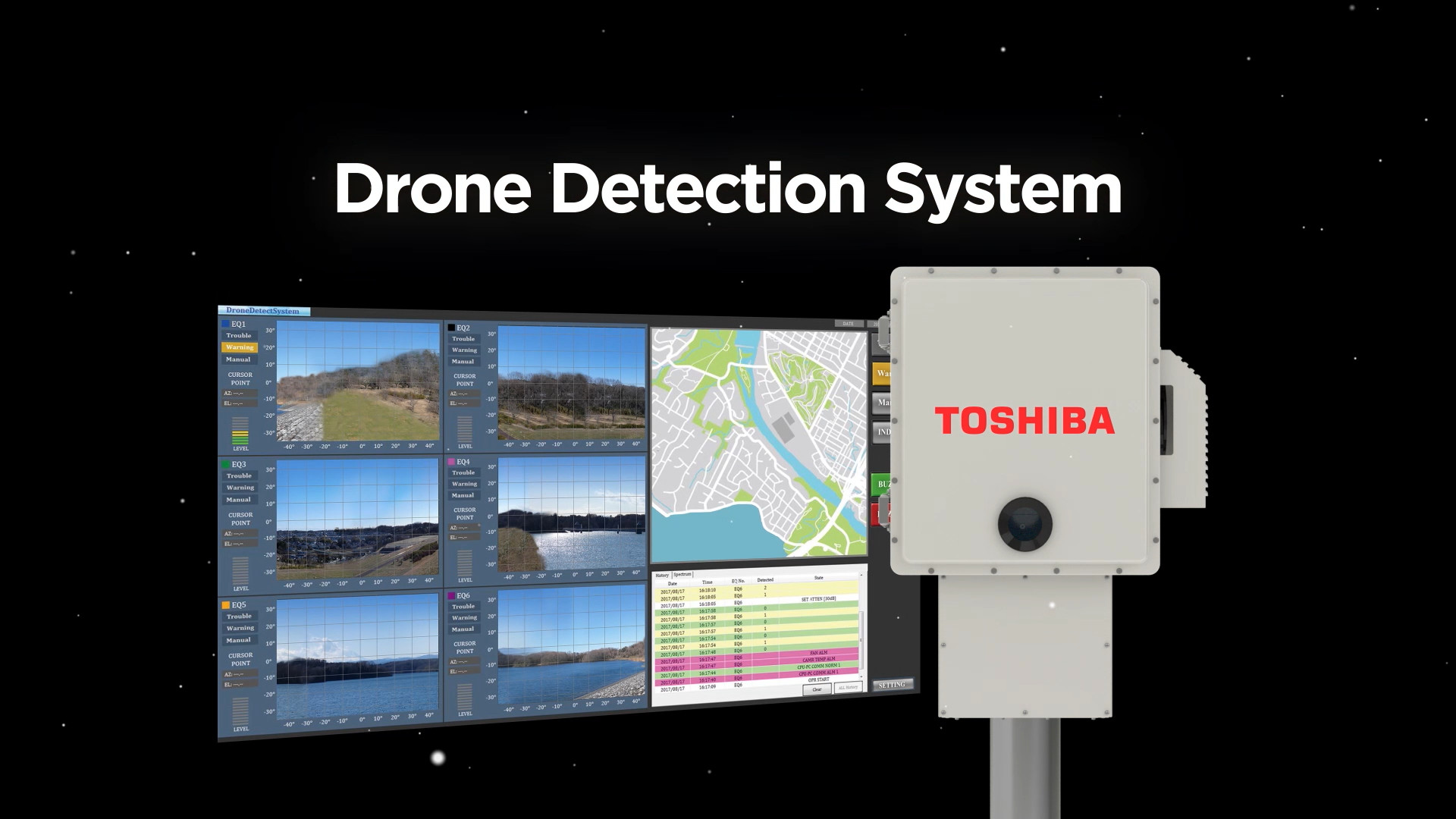 Radio Signal Visualization Technology Drone Detection System