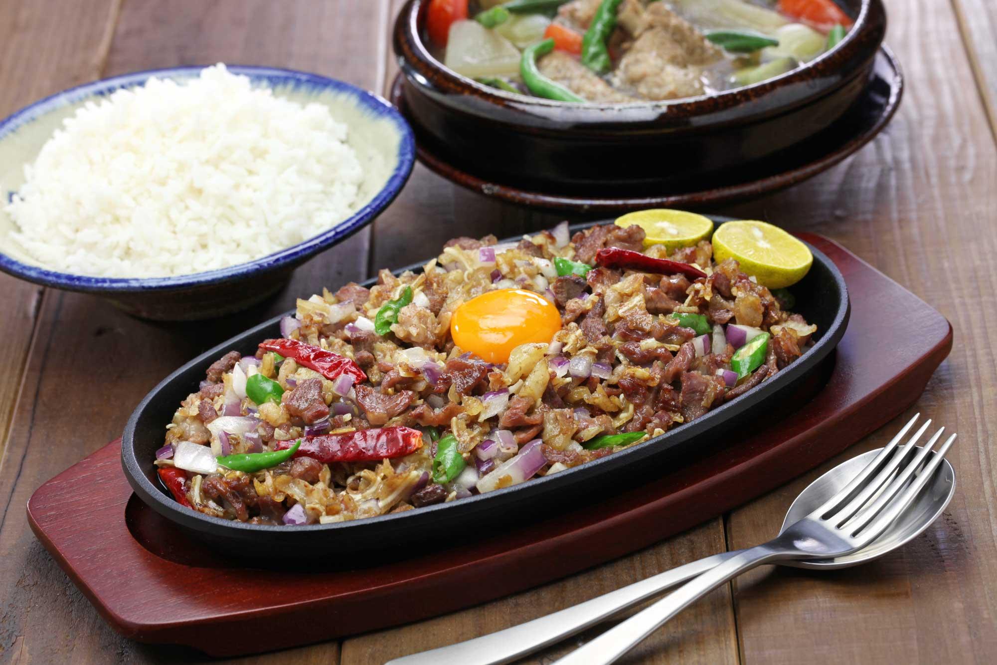 Table Full of Filipino Food Staples