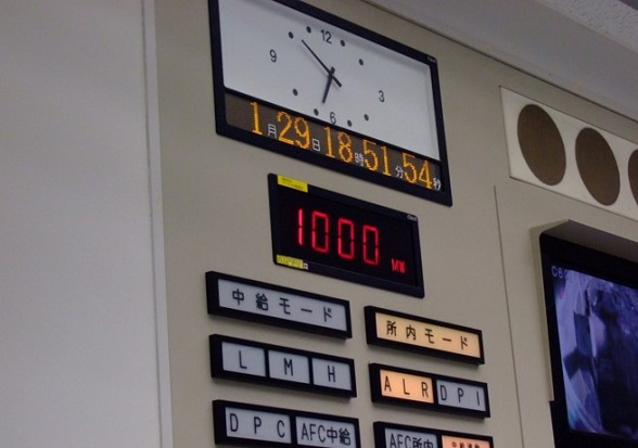発電所内の状態を示す計器