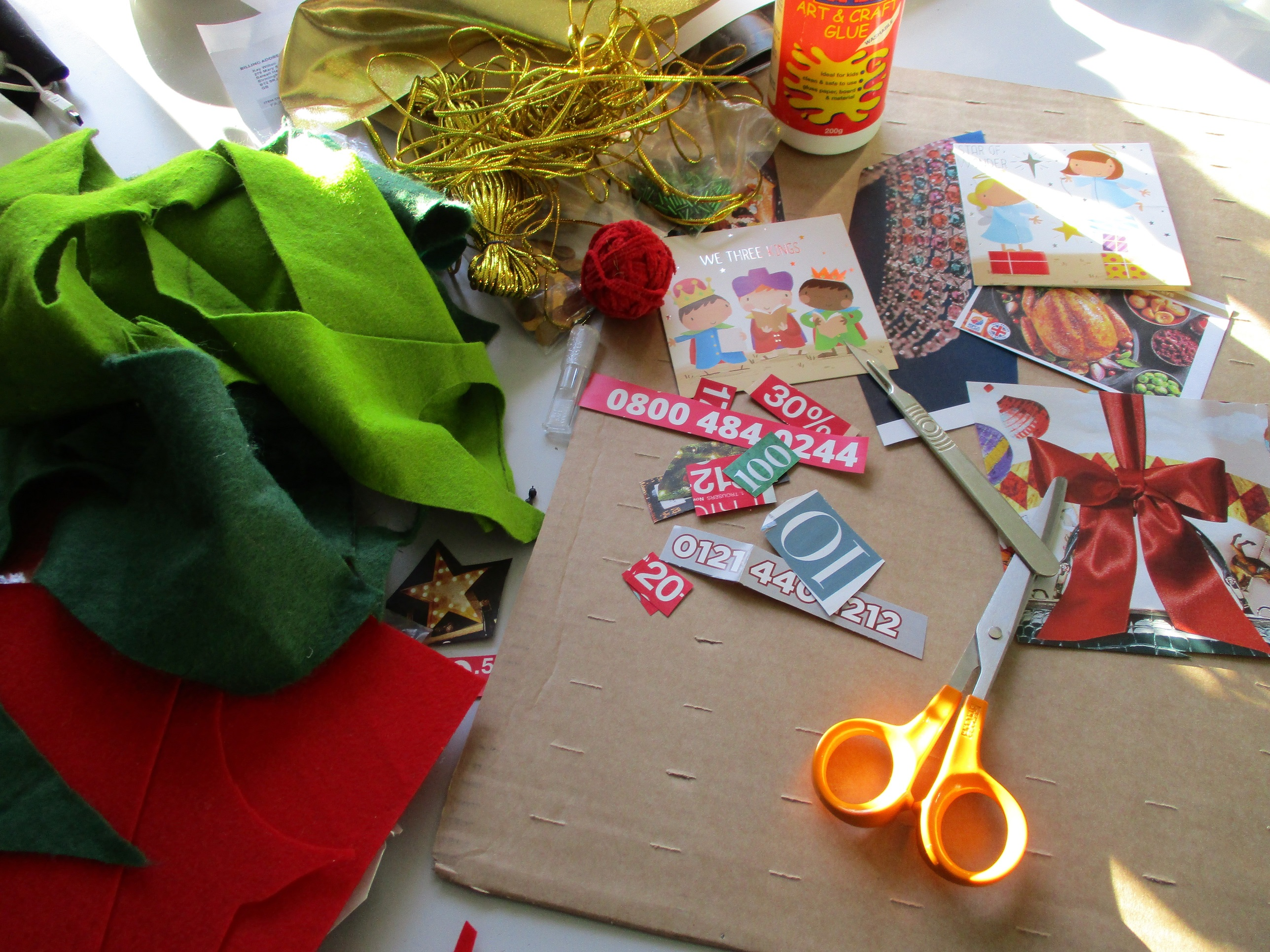 Making your own advent calendar preparation