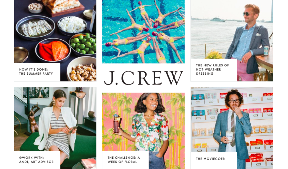 JCrew Content Marketing Strategy