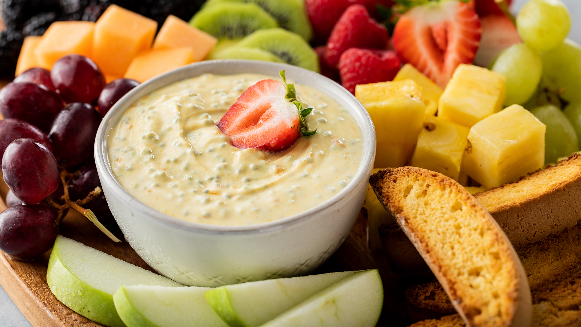 McCormick Apricot Basil Seed Yogurt Dip with Turmeric and Ginger