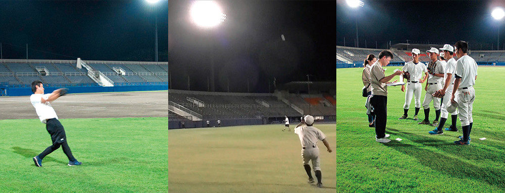 Members of Toshiba's baseball team lend their skills to solving the problem