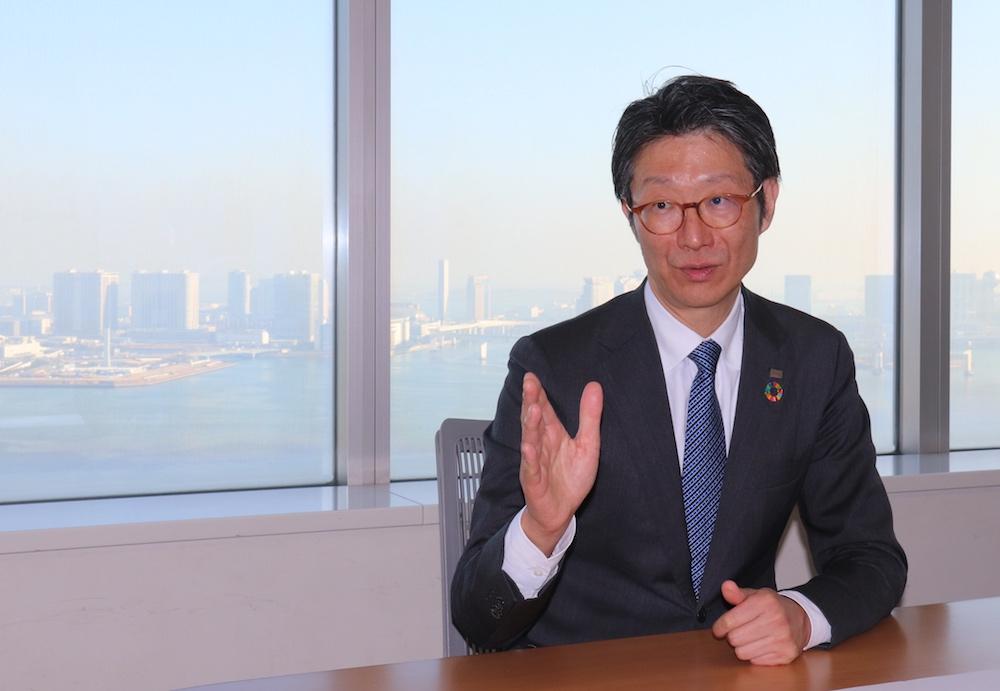 Taro Shimada, CEO & Representative Director of Toshiba Data Corporation,Executive Officer & Corporate Vice President of Toshiba Corporation