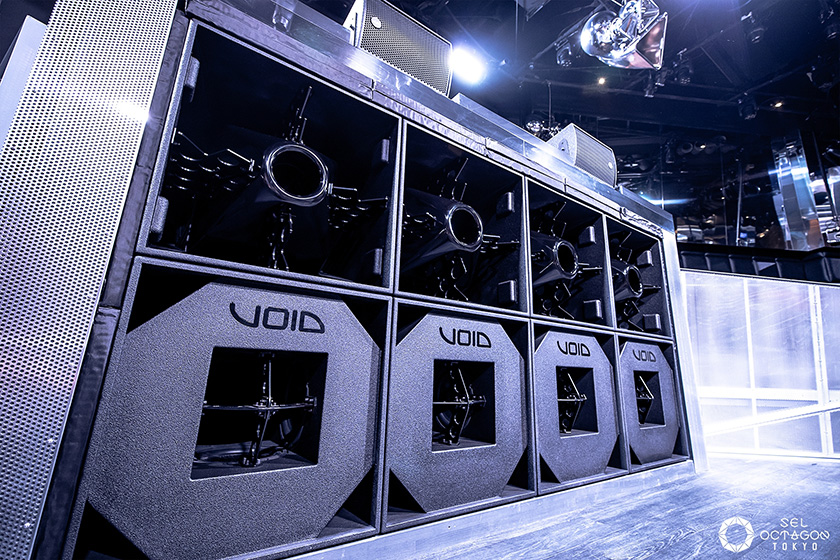 Photo : OCTAGON also pays great attention to sound. This sound system from the UK's VOID provides quality sound from the main stage. (Photograph provided by Avex Inc.)