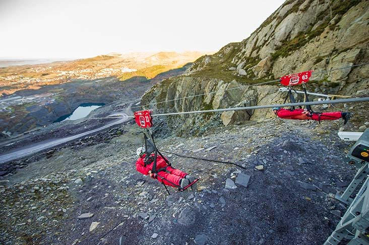 Zip World in North Wales
