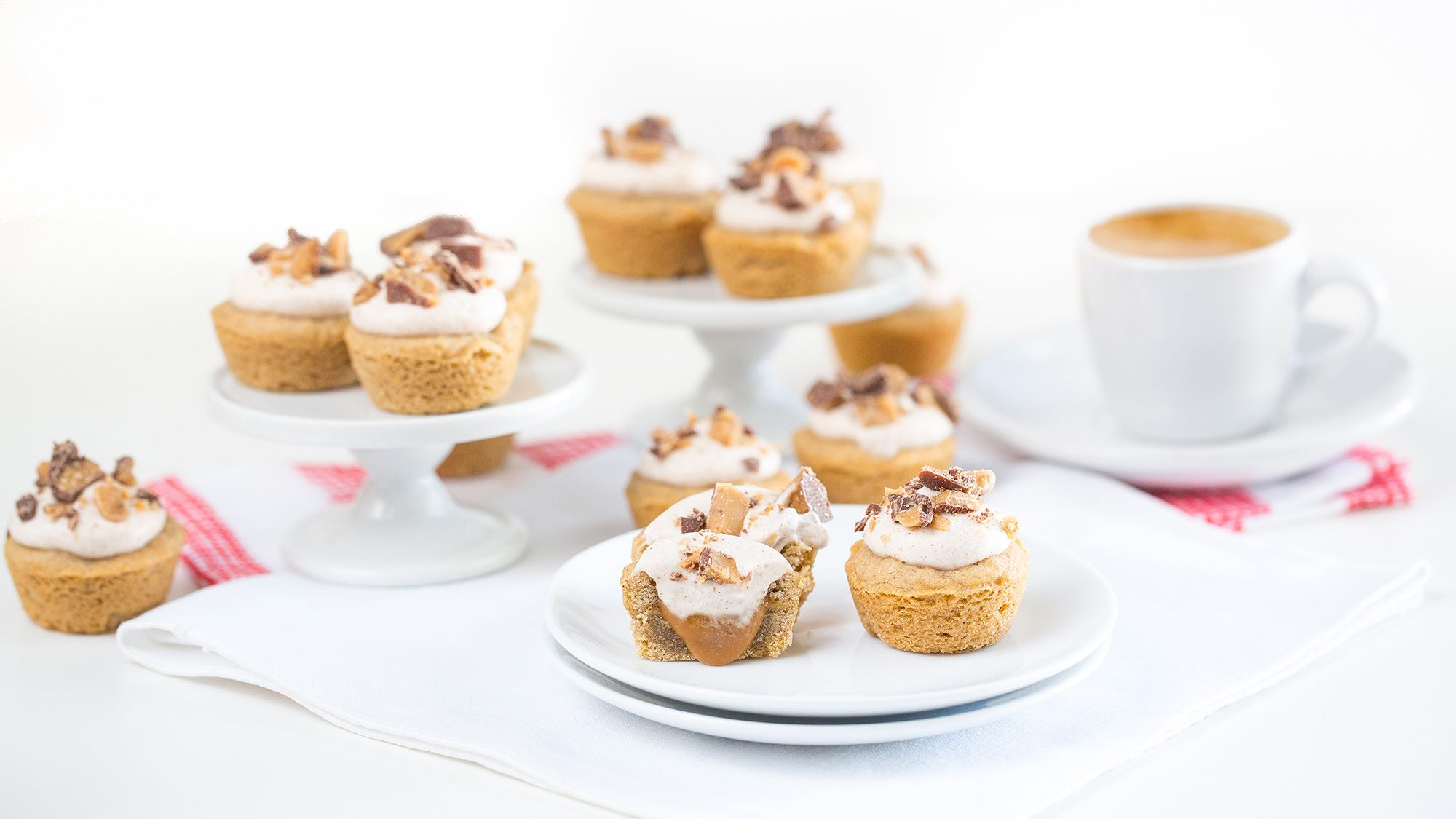 McCormick Snickerdoodle Bites with Caramel Filling and Coconut Whipped Cream