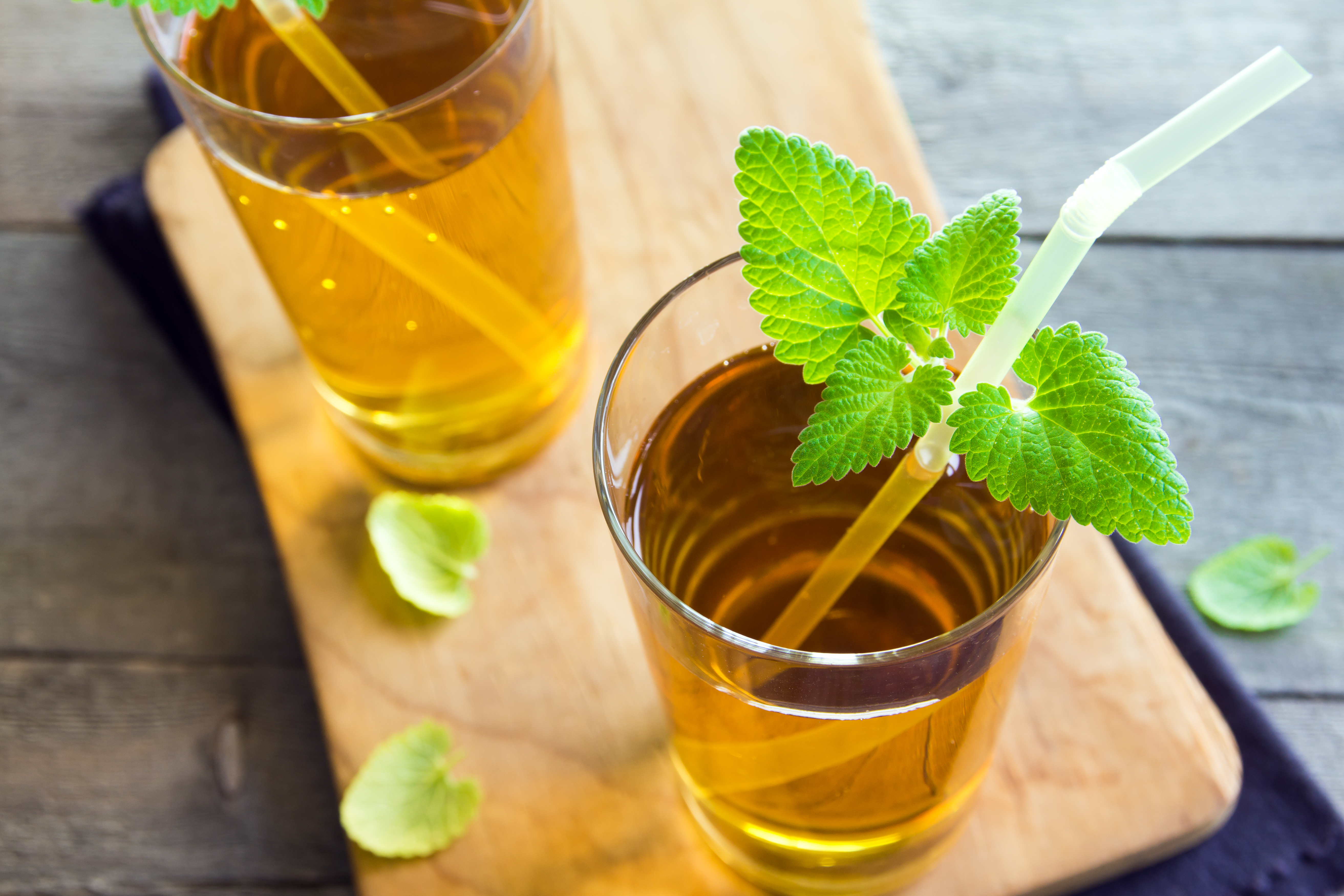 Minty Kombucha Beverage