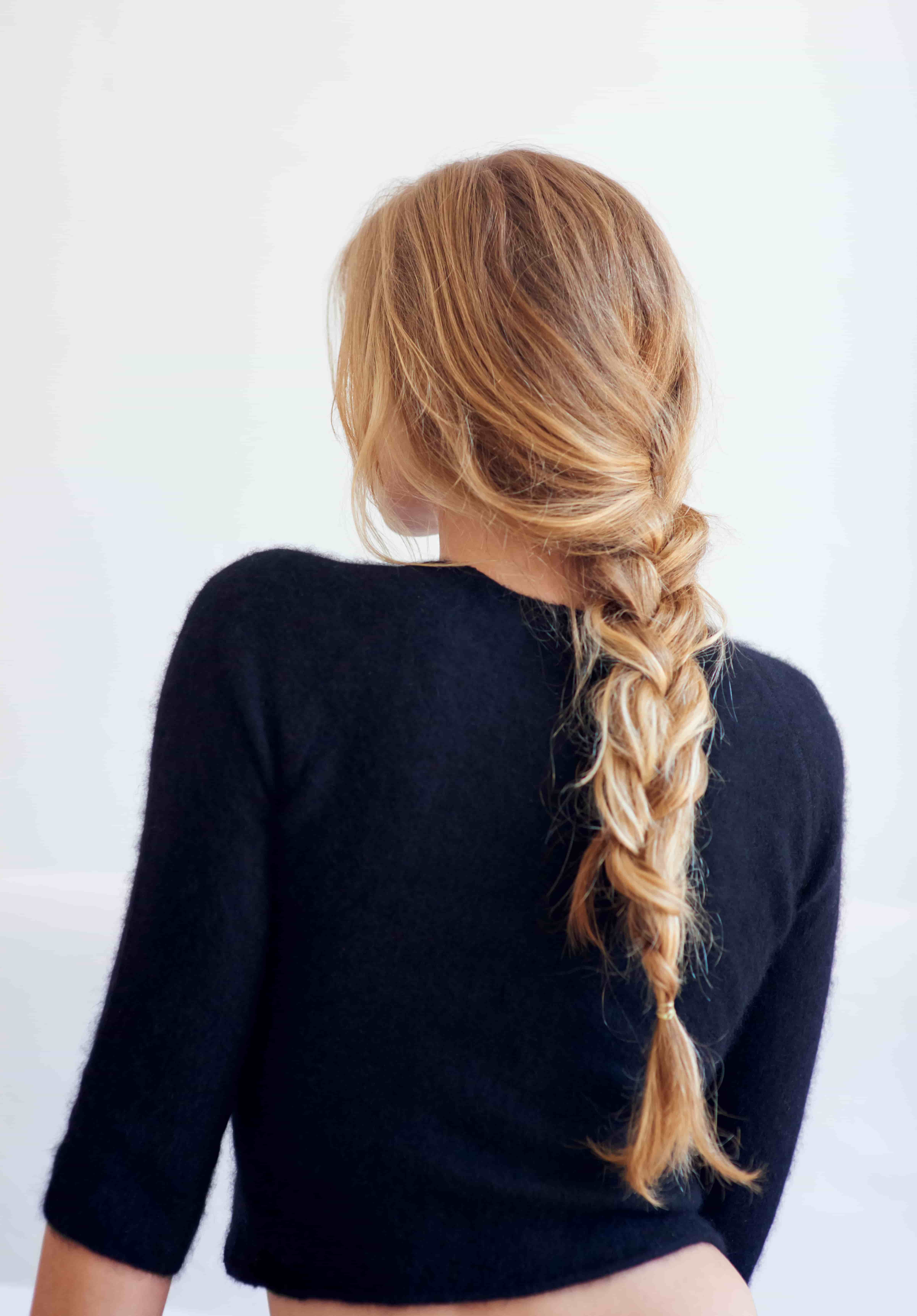woman with messy braid
