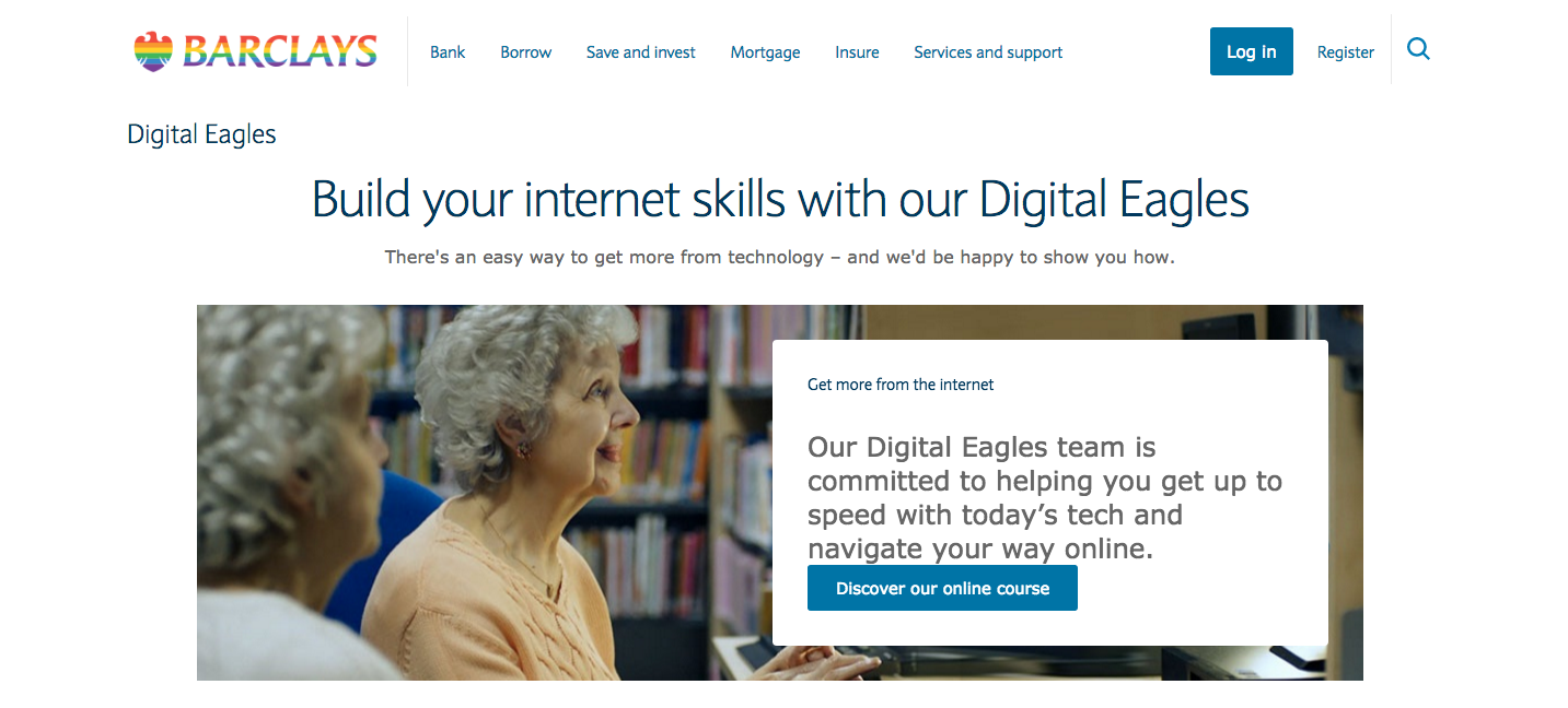 Barclays Digital Eagles Financial services content marketing