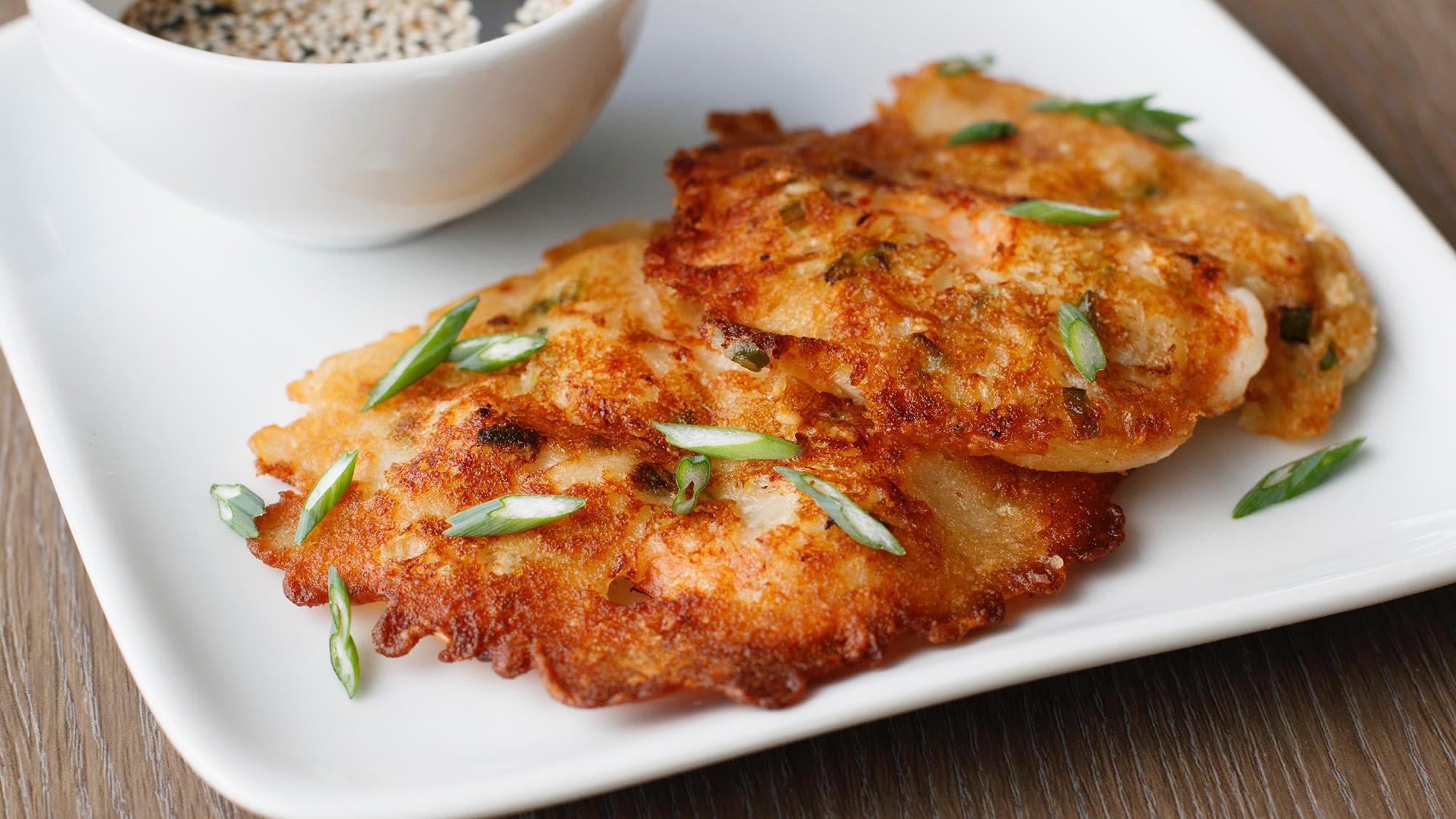 Shrimp and Kimchi Korean Pancakes