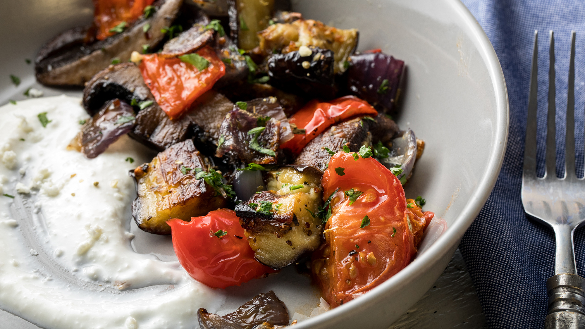 McCormick Gourmet Roasted Vegetables with Creamy Whipped Feta