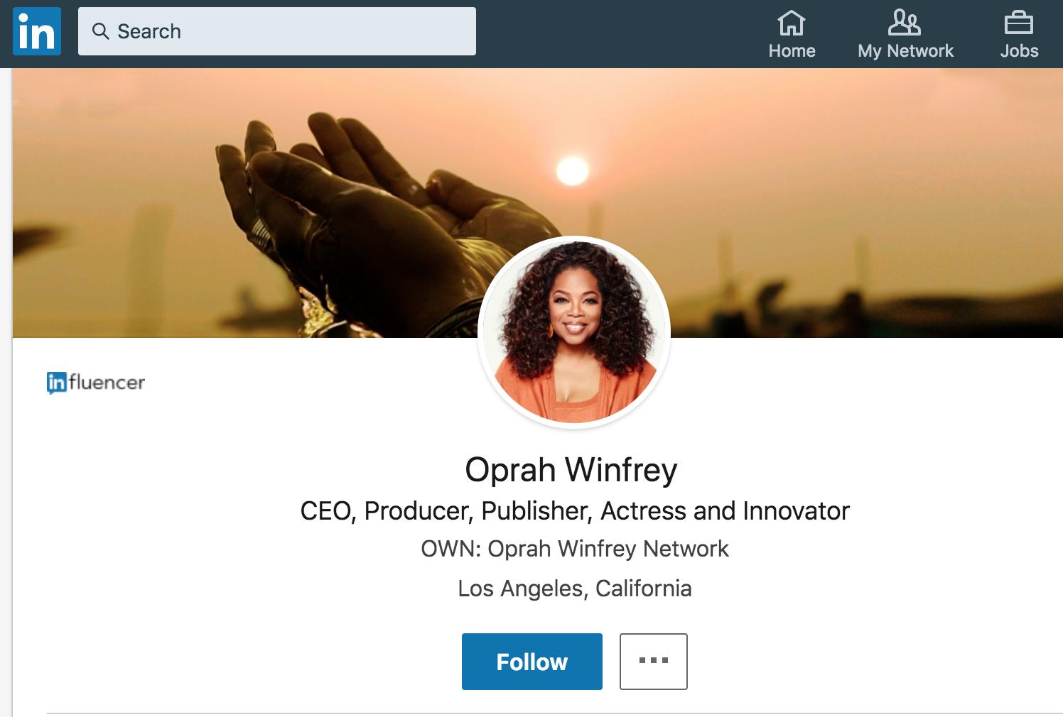 Oprah Winfrey LinkedIn